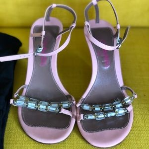 CHANEL Pink Beaded Sandals *RARE*